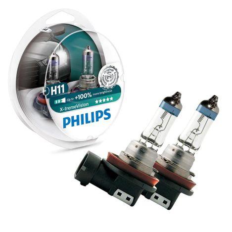 Par-Lampada-Automotivo-X-treme-Vision-H11-Philips-12362XVS2