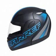 Capacete-Zarref-Neon-V5-Preto-Fosco-Azul-Robocop-TAM-56