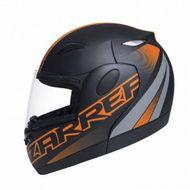 Capacete-Zarref-Neon-V5-Preto-Fosco-Laranja-Robocop-TAM-58