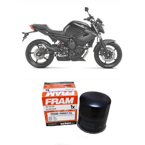 Filtro-de-Oleo-Para-Moto-Fram-PH6017A-Fazer---XJ6---MT-03