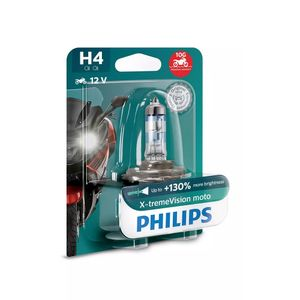 Lampada-Moto-Halogena-H4-X-Treme-Vision-Philips-55W-3400k