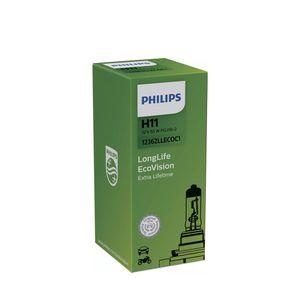 Lampada-Halogena-H11-LongLife-EcoVision-Philips-3100K-12V